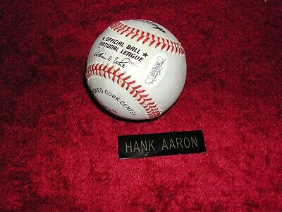 $ CDN211.65 • Buy Hank Aaron Signed Major League Baseball JSA COA Letter Included Plus Bonus Ball