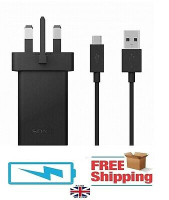 AU9.18 • Buy Genuine Sony Xperia Mains Fast Charger + Type-c Usb Cable For Xperia L2 10 Xz