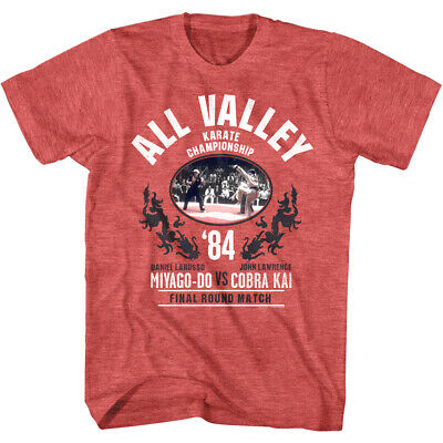 $19.50 • Buy Karate Kid All Valley Championship 1984 Final Men's T Shirt Cobra Kai Fight Top