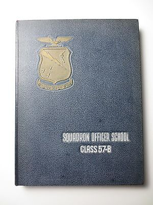 $24.49 • Buy SQUADRON OFFICER SCHOOL Class 57-B Air Force Maxwell AFB MILITARY YEARBOOK B0184