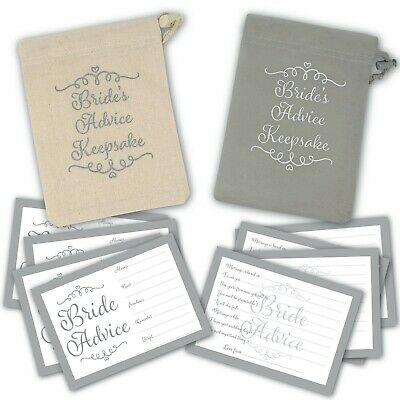 £4.99 • Buy 30 X Advice For The Bride Cards - With Choice Of Keepsake Pouch - Hen Party Game