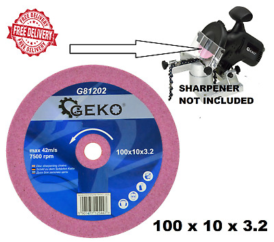 £5.99 • Buy 100 X 10 X 3.2mm Grinding Disc - Chainsaw Sharpening Blade Chain Saw Sharpener