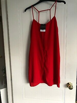 Topshop Cami Dress Red Size 10 • 12£