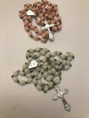 Girls/Boys My First Communion Gift White  Bead Rosary Lot Of 2 • 10.48£