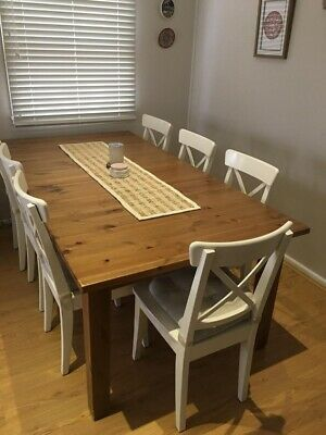 AU550 • Buy Solid Pine Dining Table With 2 Extendable Options