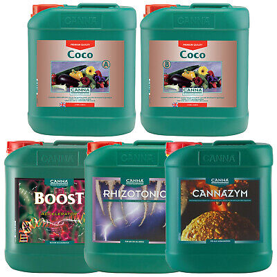 Canna Nutrient Kit Growing Pack Coco AB Rhizotonic Cannazym Boost Accelerator 5L • 369.99£