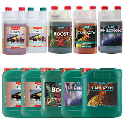 Canna Nutrient Kit Growing Pack Coco AB Rhizotonic Cannazym Boost Accelerator UK • 369.99£