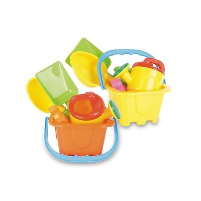 £7.97 • Buy Castle Beach Bucket Set With Spade, Scoop, Watering Can And Sand Moulds Summer