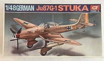 $39.99 • Buy New IDEA German Ju87G-1 STUKA WW2 1:48 Plastic Model Kit HC 1512 Factory Sealed