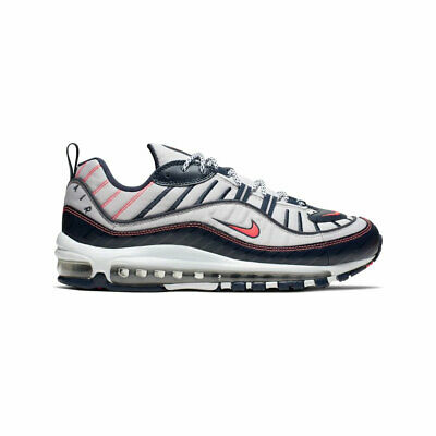 $118.88 • Buy Nike Men's Air Max 98 NYC White Silver Bright Crimson Running Shoes CK0850-100