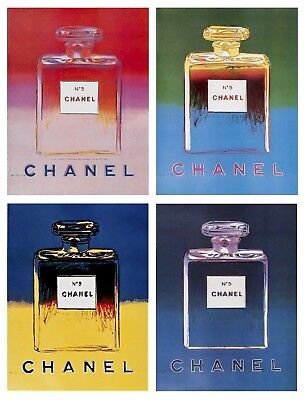 $2500 • Buy Chanel Suite, 4 Offset Lithographs Mounted On Canvas, Andy Warhol