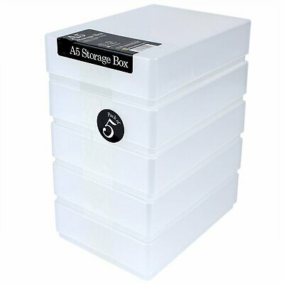 A5 - Paper Storage Boxes - Pack Of 5 • 11£