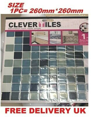 5 Packs Self Adhesive Wall Tiles Clever Tiles Glitter Mosaic Self Adhesive Tiles • 10.99£