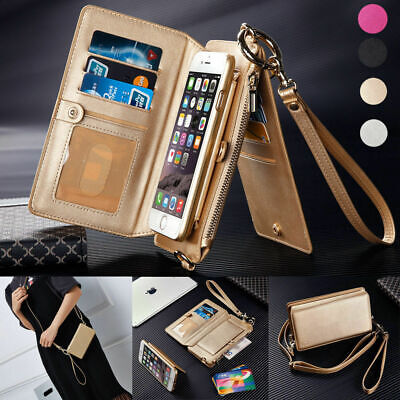 $ CDN40.20 • Buy For Samsung NOTE 8 NOTE 9 Fashion Leather Cover Crossbody Shoulder Wallet Case