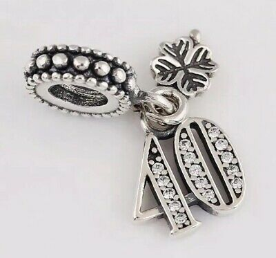 925 Solid Sterling Silver Charm EURO Style Bracelet 40 Age 40s Pandora's Bliss • 11.04£