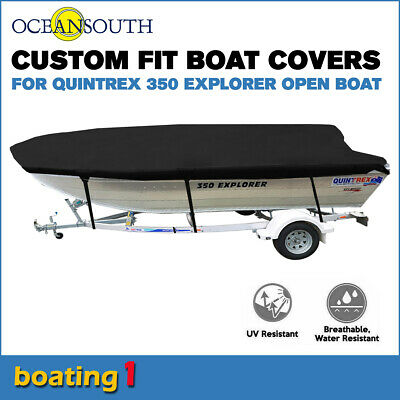 AU159.51 • Buy Oceansouth Trailerable Custom Boat Cover For Quintrex 350 Explorer Open Boat