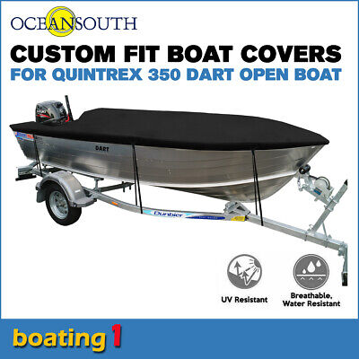 AU171.52 • Buy Oceansouth Trailerable Custom Boat Cover For Quintrex 350 Dart Open Boat