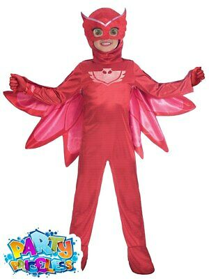 Girls Deluxe PJ Masks Owlette Costume Official UK Superhero Fancy Dress Outfit • 16.99£