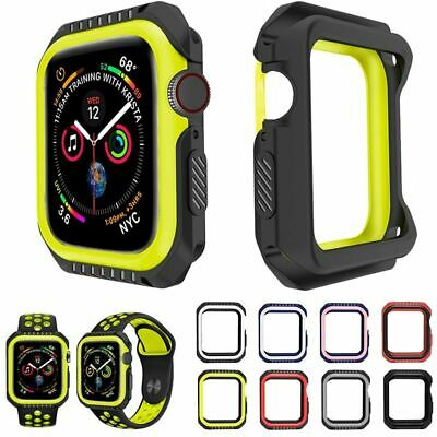 $ CDN11.26 • Buy Silicone Pc Hard Case For Apple Watch 4 5 40mm 44mm Frame Full Protective Bumper