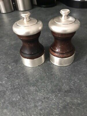 Peugeot Freres Palace Wood And Silver Plated Salt And Pepper Mill • 170£