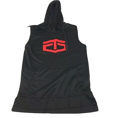 $19.85 • Buy TAPOUT Sleeveless Hoodie Mens Adult Small Black/Red Workout Training MMA Boxing