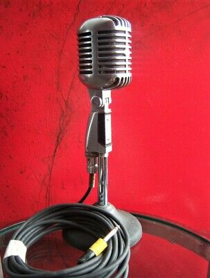 Vintage 1960's Shure 55 S Dynamic Cardioid Microphone Old Elvis W Accessories 2 • 205.06£