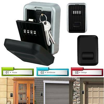 High Security 4 Digit Key Safe Box Code Lock Double Storage Outdoor Wall Mounted • 12.89£