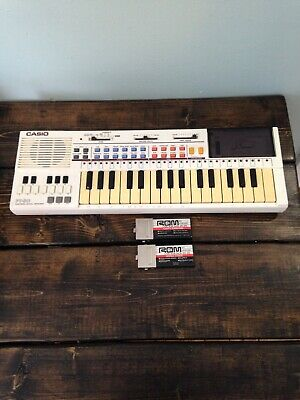 $44.99 • Buy VTG CASIO PT-80 MUSICAL Electronic KEYBOARD Piano RO-551 & RO-275 ROM PACK