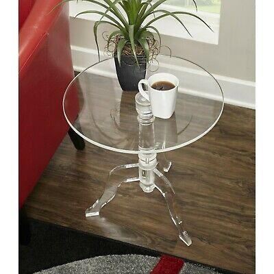 $299.99 • Buy Clear Acrylic End Table Modern Home Office Living Room Decoration Stand Table US