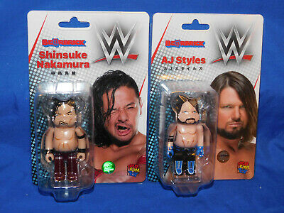 $39.99 • Buy Medicom Last Man Standing AJ Styles & Shinsuke Nakamura 100% Bearbrick Set Lot