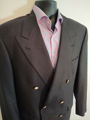 $60 • Buy Brooks Brothers 41 R Double Breasted Wool Blazer Men's Gold Button Grey Coat