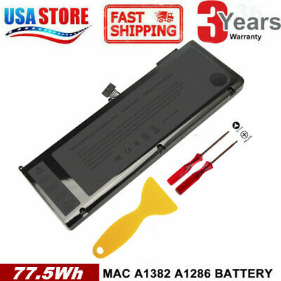 $27.99 • Buy A1382 Battery For MacBook Pro 15'' A1286(Early 2011 Late 2011 Mid 2012)