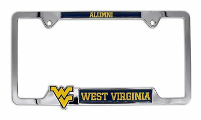 $ CDN39.65 • Buy West Virginia University Mountaineers Alumni 3D Chrome Open License Plate Frame