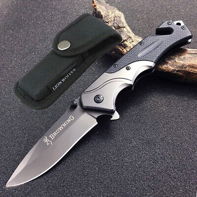 AU21.99 • Buy Browning Folding Pocket Knife Outdoor Camping Hunting Survival Fishing Knives AU