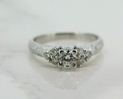 18ct White Gold 0.50ct Diamond Solitaire Engagement Ring (Size K 1/2) • 375£