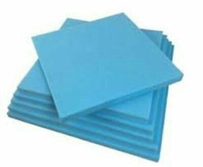 £5.99 • Buy High Density Upholstery Blue Foam Sheets Sofa Cushions Seat Pads Cut To Any Size