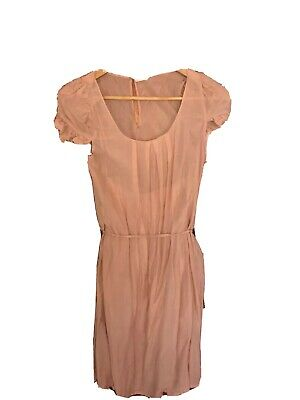 AU15 • Buy Ladies Peach Colour Sheer With Camisole Oysho Dress - Size S
