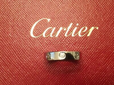 $1099 • Buy Cartier Love 1 Diamond 18ct White Gold Band Ring Size 50
