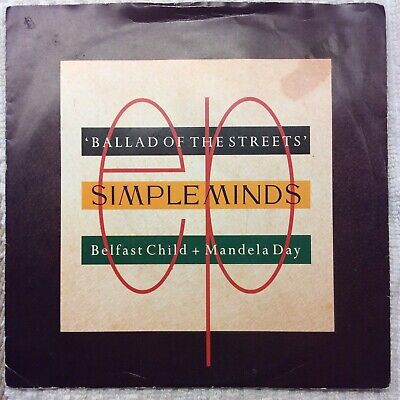 """SIMPLE MINDS, Ballad Of The Streets 1989 7"""" Vinyl • 2.99£"""