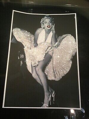 Glitter Marilyn Monroe Picture A4 Print Only NO FRAME With Glitter Diamond Dust • 9.85£