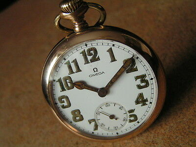 $890 • Buy Antique Military OMEGA Pocket Watch, A.L.D. MOON Case,  Ca1912