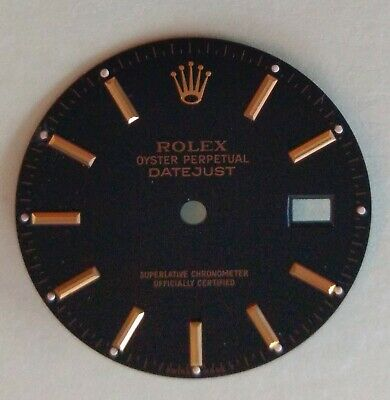 $ CDN483.66 • Buy Rolex Glossy Black T Swiss Made T Dial For Vintage Datejust Watch 1600 1601