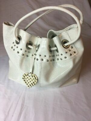 £60 • Buy Russell & Bromley White Patent Leather Large Tote Bag.