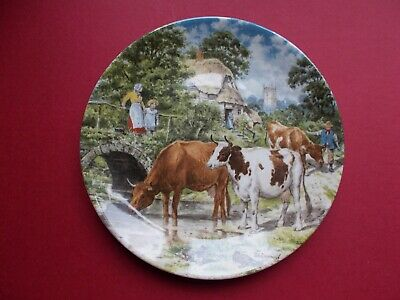 £6 • Buy Wedgwood Plate Life On The Farm 1989 - A Cooling Drink