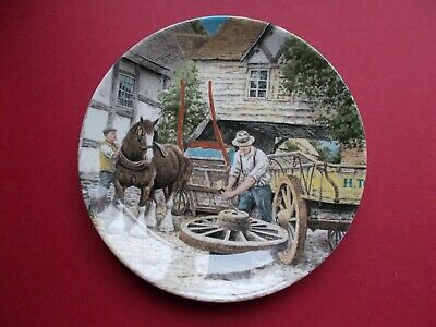 £6 • Buy Wedgwood Plate Life On The Farm 1989 - The Wheelwright