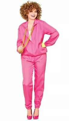 Ladies 80s Shell Suit, Wicked Costumes, Pink, Fancy Dress, Worn Once, One Size • 10£