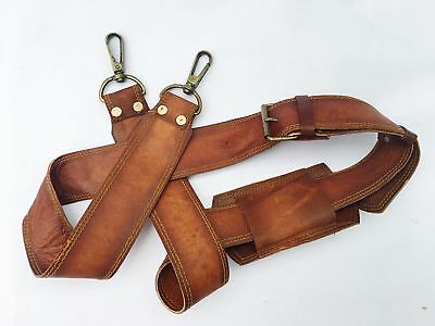Vintage Tan Leather 1  Shoulder Strap Replacement For Leather Bags • 19.19£