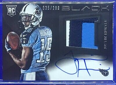 $9.99 • Buy Justin Hunter - 2013 Black - 3 Color Patch/On Card - Auto RC #d-025/299