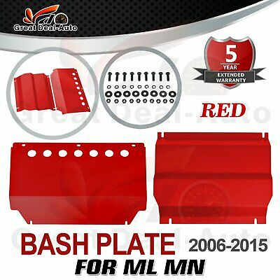 AU144.90 • Buy RED Bash Plate 2pc For Mitsubishi Triton ML MN 2006-2015 Underbody Sump Guard