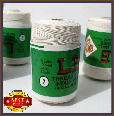 £9.99 • Buy 100% Cotton Heavy Duty White Thread For Leather Tent Canvas Flag Tent Repair